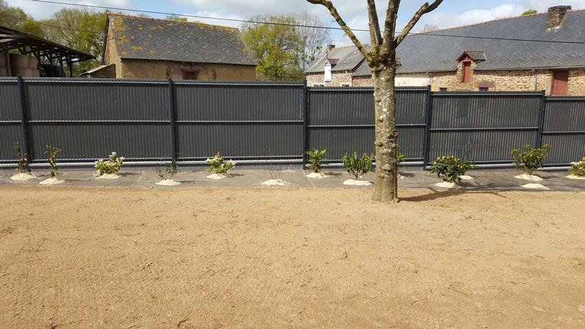 Clôture occultante. Jardins des 4 Saisons. Guer, Ploërmel, Redon, Plélan-Le-Grand, Maure de Bretagne