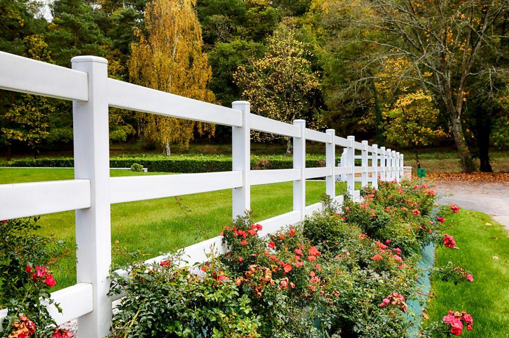 Clôture barrière. Jardins des 4 Saisons. Guer, Ploërmel, Redon, Plélan-Le-Grand, Maure de Bretagne