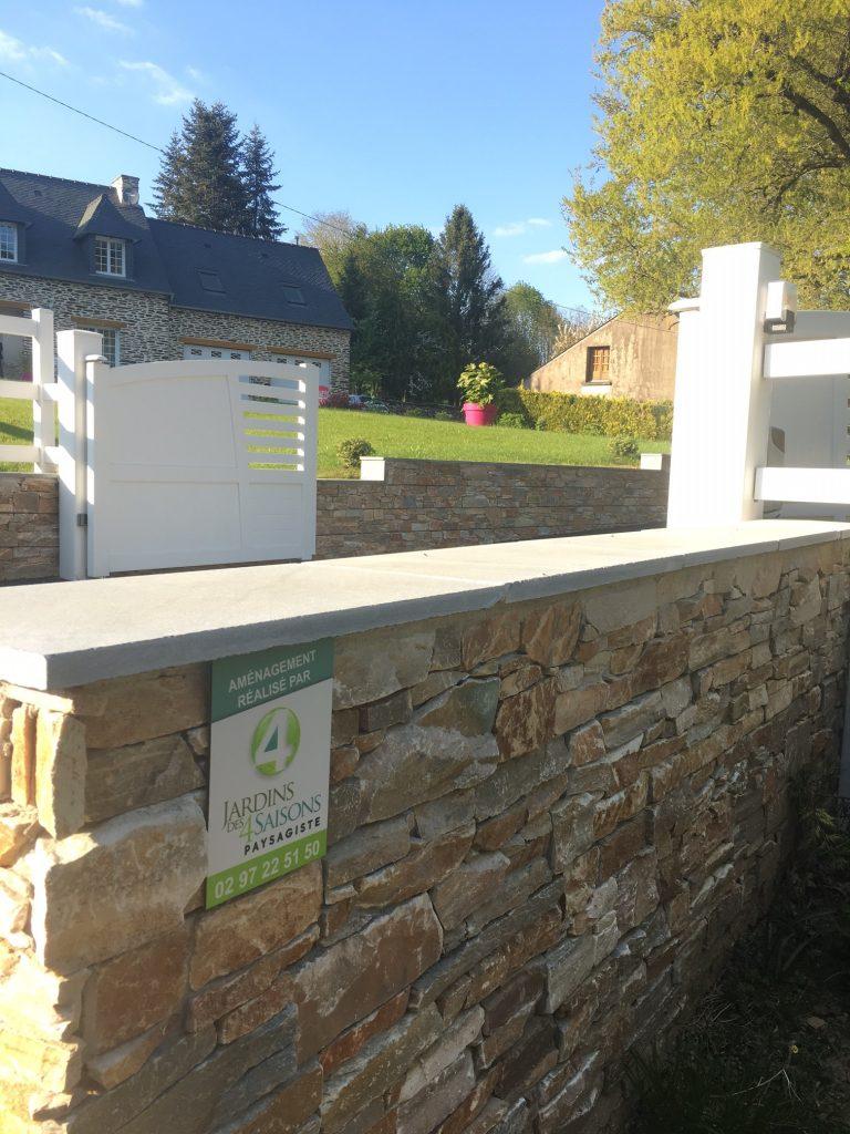 Parement mur. Jardins des 4 Saisons. Guer, Ploërmel, Redon, Plélan-Le-Grand, Maure de Bretagne
