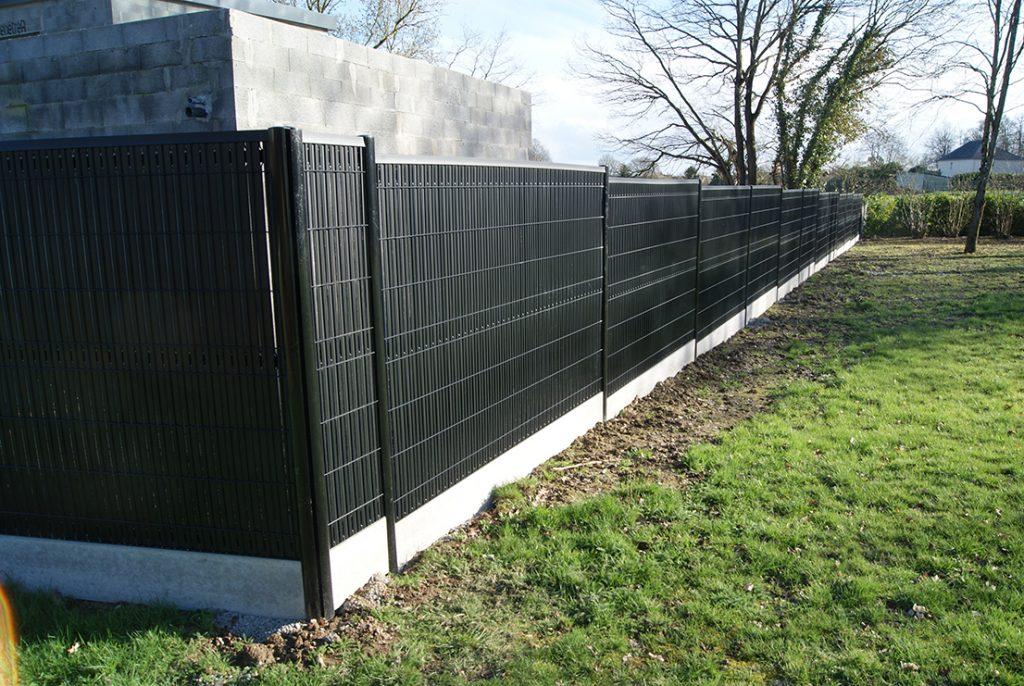 clôture occultation noire Jardins des 4 Saisons. Guer, Ploërmel, Redon, Plélan-Le-Grand, Maure de Bretagne