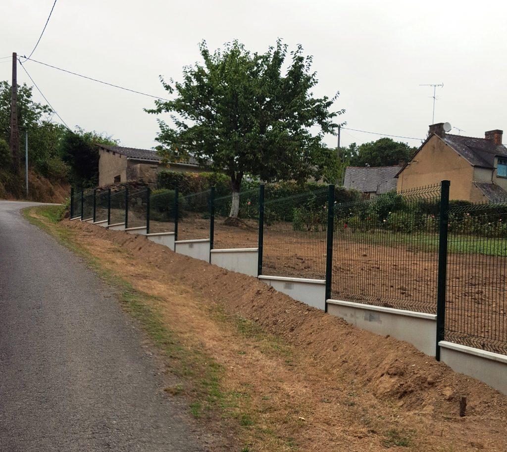 clôture et redent Jardin des 4 saisons. Guer, Ploërmel, Redon, Plélan-Le-Grand, Maure de Bretagne