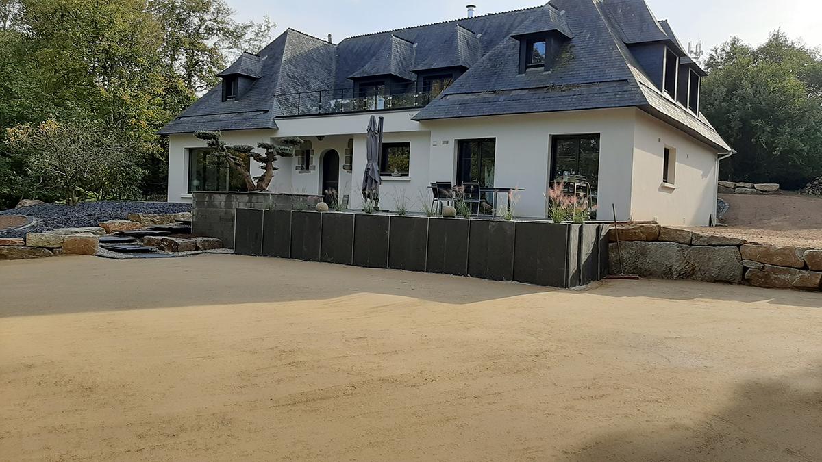 Suite reportage chantier boisé. Terrasse Jardins des 4 Saisons. Guer, Ploërmel, Redon, Plélan-Le-Grand, Maure de Bretagne