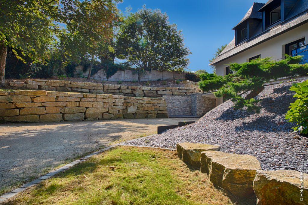Enrochement. Jardins des 4 Saisons, votre paysagiste sur Guer, Ploërmel, Redon, Plélan-Le-Grand, Maure de Bretagne