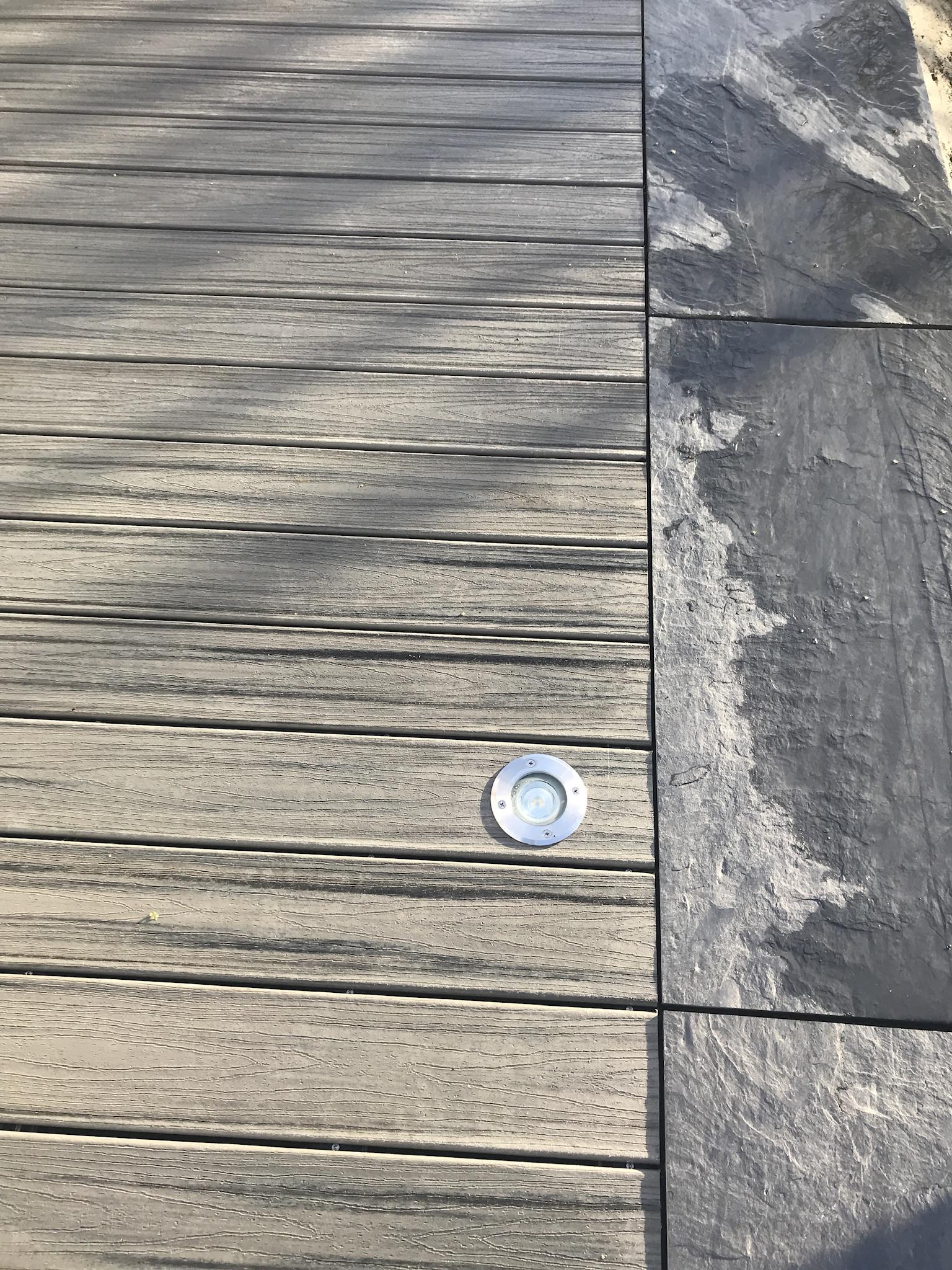 Terrasse bois. Terrasse Composite. Bande de propreté ardoise. Spa. Mur-banc. Brise-vue. Jardins des 4 Saisons. Guer, Ploërmel, Redon, Plélan-Le-Grand, Maure de Bretagne